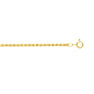 Carador - collier or jaune 375/000 maille corde