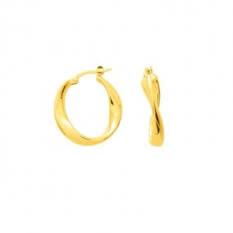 Carador - Créoles torchon or jaune 375/000
