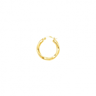 Carador - Créoles torchon or jaune 375/000 diamètre 15 mm