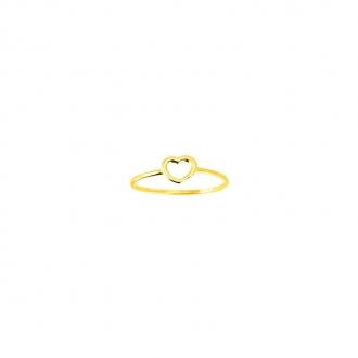 Bague Carador cœur or jaune 375/000