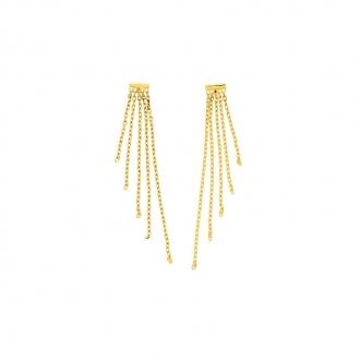 Carador - boucles d'oreilles pendantes or jaune 375/000