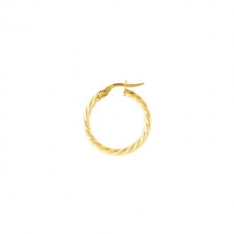 Carador - boucles d'oreilles créoles or jaune 375/000