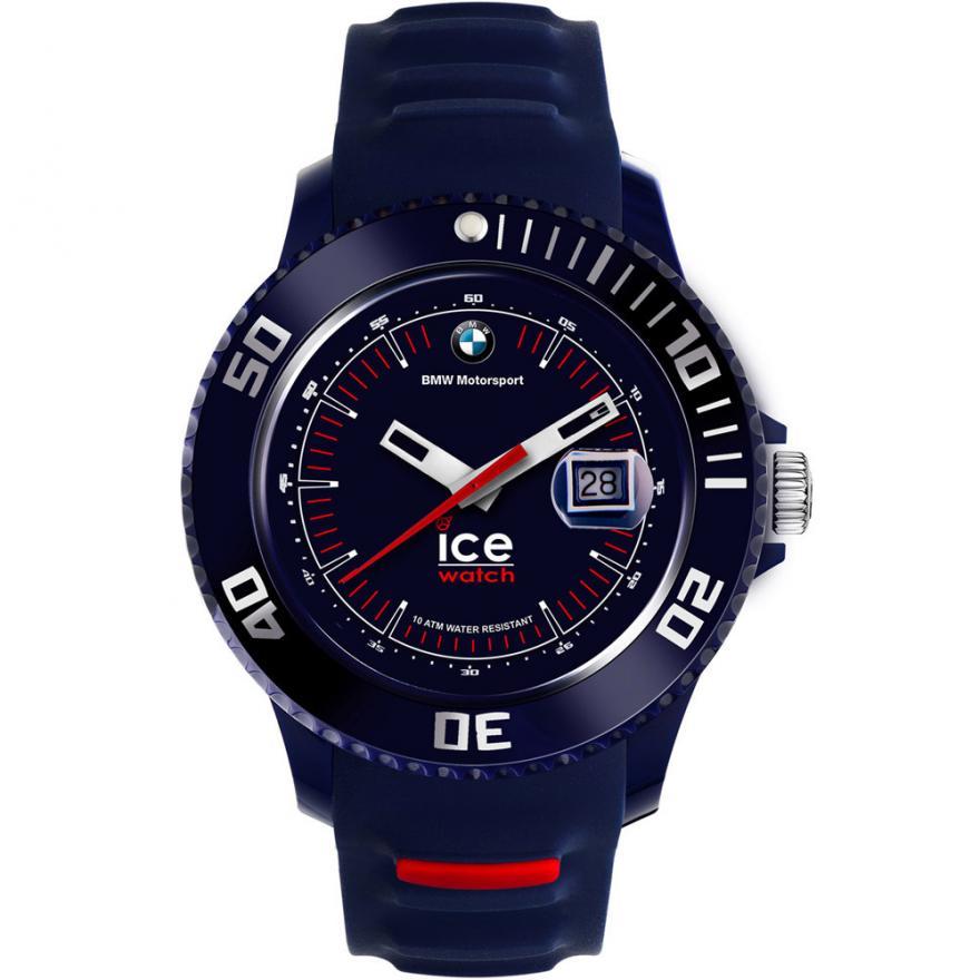 montre ice watch bmw bracelet silicone bleu 000836 pour homme. Black Bedroom Furniture Sets. Home Design Ideas