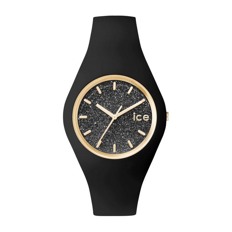 a67656910015ad Montre ICE-Watch Glitter bracelet silicone noir 001349 pour FEMME