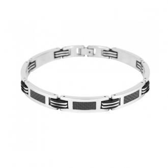 Bracelet phebus acier et carbone 35-0450