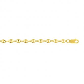 Bracelet Carador or jaune 375/000 maille grain de café
