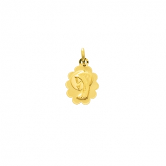 Médaille Carador vierge or jaune 375/000